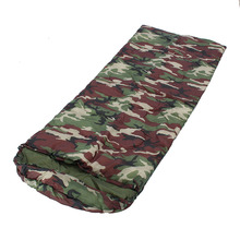 38cm*20cm Waterproof Military Camouflage Polyester Cotton 3 seasons envelope outdoor camping hiking Sleeping Bags