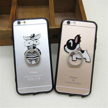 Hot Sale Funny Cartoon Zebra Dog Clear Hard Back Cover for Apple IPhone 6 6s plus Cute Transparent Phone Case Shell Stand Holder