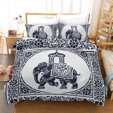 Fanaijia Elephant Bed Linen Mandala Bedding Se Luxury Bohemian Quilt Cover with Pillowcase Set(China)