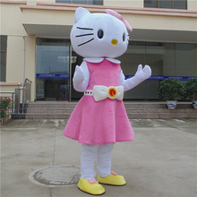 High quality Hello Kitty Mascot Costume adult size Hello Kitty costume character onesies cheap fancy dress costumes