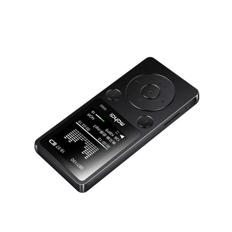 Top Brand MP4 Player Mahdi M360 4G8G Alarm Clock FM Radio E-Book Recording Speaker TF New Metal Sport MP4 With Armband Earphone (9)