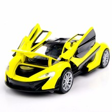 Free Shipping Collectible Car Toys 1:32 Yellow McLaren P1 Alloy Diecast Model Vehicles Electronic With Light&Sound Gift