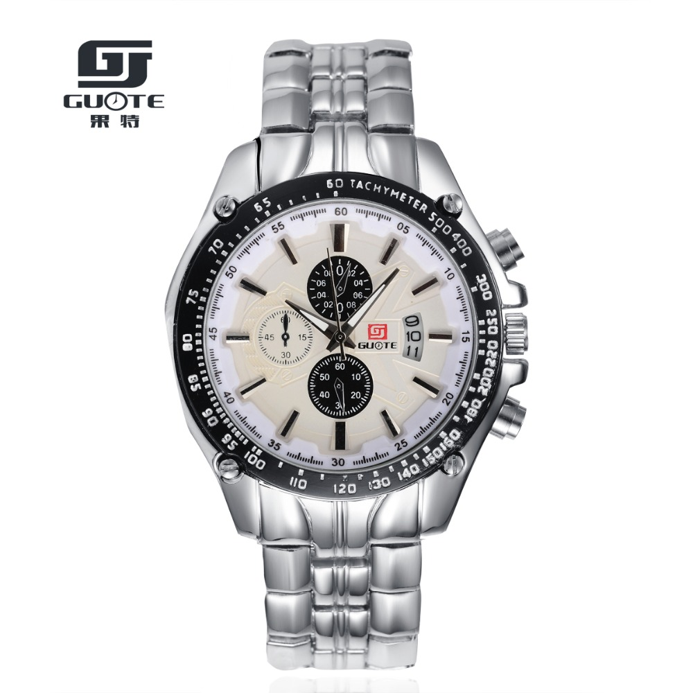 GUOTE Quartz men Watches Top Brand Luxury Men Military Wristwatches Full Steel Men Sports Watch Waterproof Relogio Masculino G45<br><br>Aliexpress