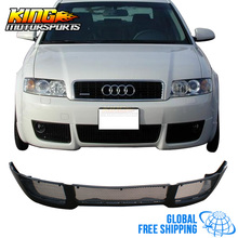 For 02-04 Audi A4 B6 Front Bumper Lip Poly Urethane V-Style PU Global Free Shipping Worldwide