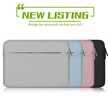 New Women Soft Laptop Sleeve for Microsoft Surface pro 3 pro 4 Notebook Liner Sleeve Carrying Case Cover for Men Waterproof 12""