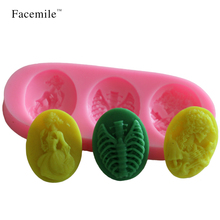 Beautiful Girl 3D Silicone Mold Christmas Wedding Decoration Silicone Mold Fondant Sugar Cooking Tools Cake Decoration 50-239