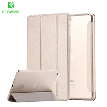 FLOVEME Fashion Silk Leather Case for iPad Mini 1 2 3 7.9'' Case Luxury Stand Tablet Shell Smart Cover for iPad Mini 1 2 3 Cover(China)