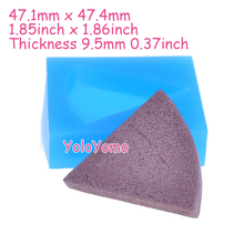 G405YL 47.4mm Cake Cut Flexible Silicone Mold - Chocolate Cake Tart Mold Baking Tools Butter Polymer Clay Resin Candle Soap Mold
