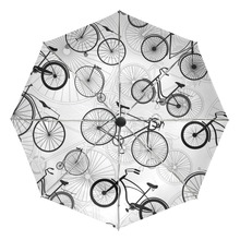 New Creative Bike Design Men Umbrella Windproof Ran and Rain Anti UV Bicycle Children Umbrella Three Folding Automatic Umbrellas(China)