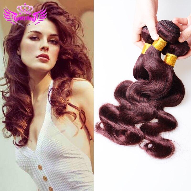 Red Body Wave Cheap Burgundy Human Hair Peruvian Virgin Hair Weave Bundles 4 Pcs lot Red Peruvian Hair Weft Long Life On line<br><br>Aliexpress