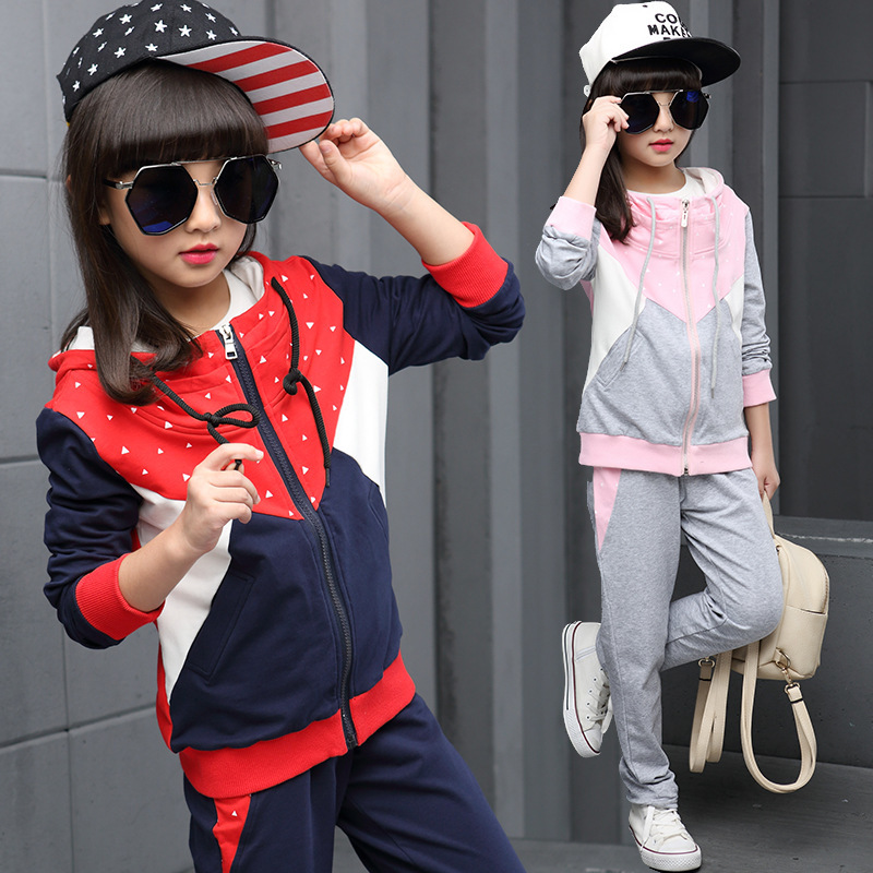 Dress Spring And Autumn New Pattern Girl Korean Long Sleeve Suit Autumn Outfit Leisure Time Motion Two Pieces Kids Clothing Sets<br>