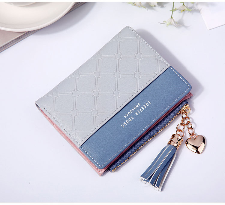 2018 Fashion Ladies Wallet Female Short Zipper Coin Purse Small Wallets Young Womens Tassel Hasp Purses Button Card Holder Pouch 78