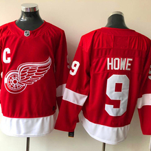 Mens #9 Gordie Howe red Home 100% Embroidery Hockey Jerseys High Quality free shipping(China)