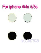 4PCS/Lot Free Shipping With Retail Package Aluminum Metal Home Button Sticker for iphone 4/4s 5/5s