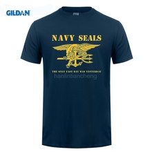 GILDAN t shirt design pattern Navy Seals Logo - The Only Easy Day Was Yesterday Premium Men's T-Shirt(China)