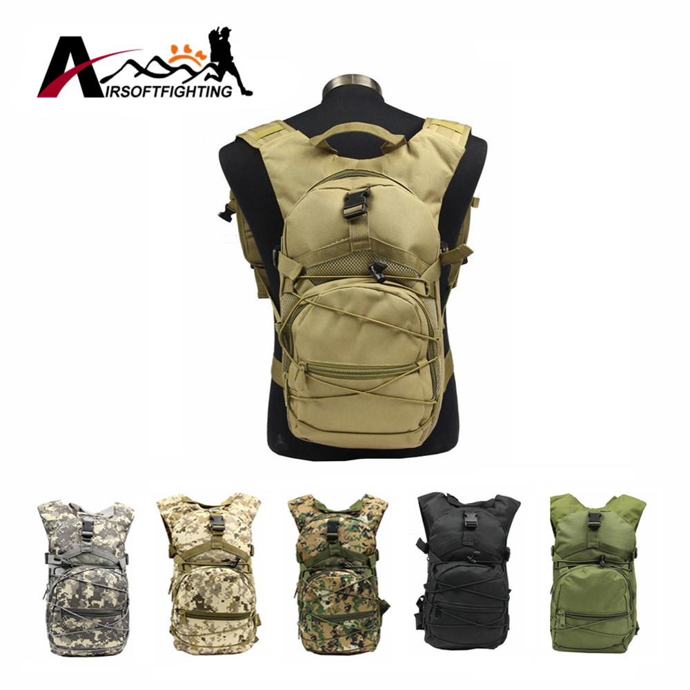 Tactical 600D 15L Waterproof Hand Carry Backpack Military Hunting Camouflage DEC Utility Pack Cycling Hiking Shoulder Bag<br><br>Aliexpress
