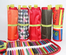 High Capacity Finishing Pencil Bag 36/ 50/ 72 Pcs Pluggable pens Storage bag sketch Colored pencil lead volume High capacity Hot