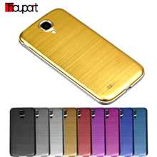 For Samsung S4 Luxury Brushed Aluminum + Brushed Battery back case For samsung galaxy S4 i9500 cover Metal Case