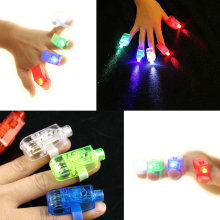 4 piece/set Novelty & Gag Toys LED Finger Light Glowing Dazzle Colour Laser Emitting Ring Light-Up Toys for Child birthday gifts