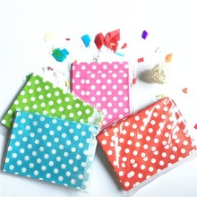 25pcs/Lot Dot Gift Bag Paper Candy Wedding Favors Kids Birthday Party Supplies Wedding Supplies Christmas Decoration Supplies