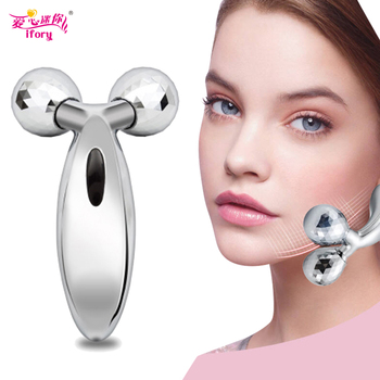 Ifory 3D Roller Massager Silver Face-lift Full Body Massager Lifting Firming Skin Remover Wrinkles Facial Beauty Healthy Care