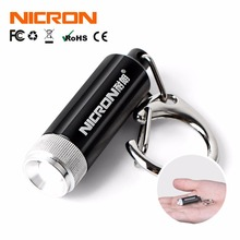 NICRON 0.25W Hot Sale Supoer Mini Flashlight Convex Mirror LED Micro Keychain Flashlight Lamp Light Torch Carabiner G10A(China)