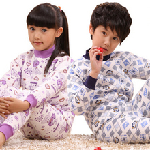 Hot sale, 2017 New Kids thermal underwear Baby boys girls Long Johns Children pajamas pants Kids long johns(China)