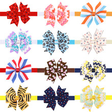1PCS Stripe Anchor Elastic Bands Handmade Creative Design Hair Bow Best Party Dress Up Headbands for Kids Girl DIY Headwear 2017(China)