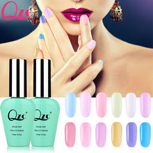 QZC 15ml Best Selling UV Gel Nail Polish health Summer Transparent red Color Nail Gel Polish Nail Primer Gel Varnishes Gelpolish