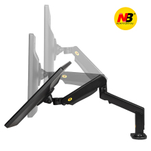 F90A 22-32 inch LCD Monitor Desktop Stand Long Arm Rotation Lifting Aluminum TV Mount Mechanical Spring Bracket with 2 USB Port(China)