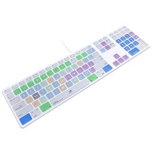 Final Cut Pro X Hot keys Design Keyboard Cover Skin For Apple Keyboard with Numeric Keypad Wired USB for iMac G6 DesktopPC Wired