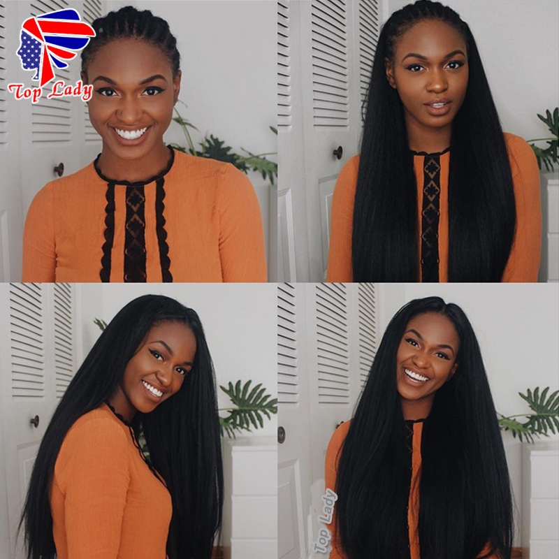 8A Brazilian Kinky Straight Full Lace Wigs For Black Women Virgin Human Hair Glueless Lace Front Human Hair Wigs With Baby Hair<br><br>Aliexpress