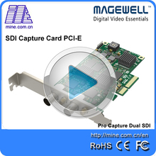 Dual channels BNC/SD/HD/3G SDI capture card 2k resolution support multi-cards per system