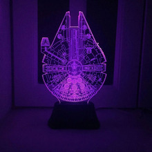 2017 Novelty 7 Color Changing 3D Led Night Light Star Wars 4 Usb Touch Energe saving Night Lamp for Wedding C10069