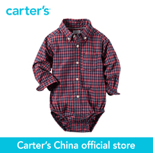 Carter's 1 pcs baby children kids Poplin Button-Front Bodysuit 225G604, sold by Carter's China official store