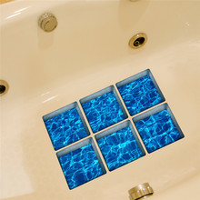 6pcs 13x13cm 3D Anti Slip Waterproof PVC Bathtub Sticker Decor Decals Muti-choose bathroom sticker wall stickers drop ship sale