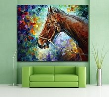 100% Hand-painted Oil Painting Animal Horse Lion Painting Canvas Wall Painting for Living Room Home Decoration Wall Art Picture