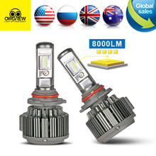 Car Lights Head light H4 LED Headlight H7 Led Headlamp H1 lamp 9003 9004 H11 H13 9005 9006 9012 H3 9007 8000LM - Owlview Store store
