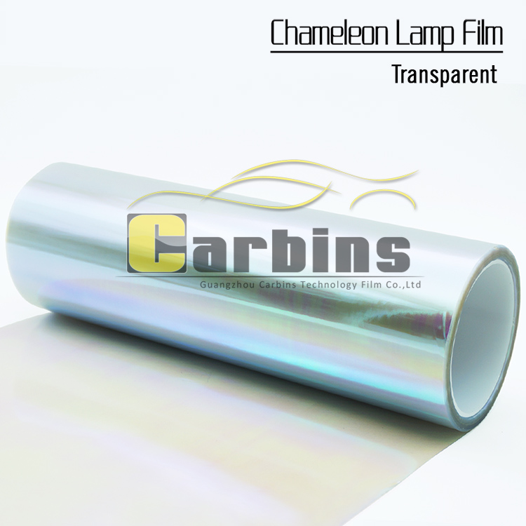 Transparent car chameleon headlight film , vinyl tint  film for car lamp, colorful car led sticker 0.3*10m<br>