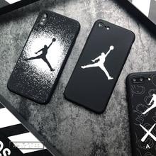 Air Jordan case iphone 6 6plus 6s plus 7 7plus 8 X Trend sports brand phone cover NBA Soft silicone phone shell coque capa