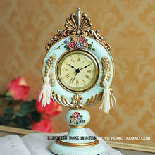 051316 Desk Clocks alarm table director crafts projection desktop digital vintage retro Resin European court wind(China)