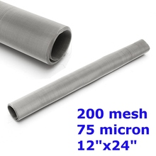 "200 Mesh 75 Micron 304 Stainless Steel Screen Dry Ice Pollen screen 12x24"" 30cm x 60cm(China)"