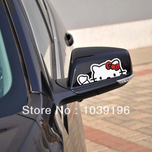 2 x Lovely Hello Kitty Car Stickers Car Decal for Toyota Ford Chevrolet Volkswagen Honda Hyundai Kia Lada(China)