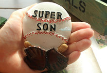 To my Super Son, Baseball and Baseball Glove 3D Resin Large Size Fridge Magnet Craft(China)