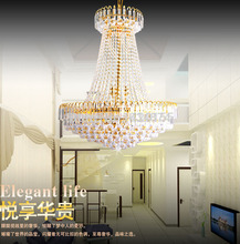 Royal Empire Golden Crystal chandelier Light French Crystal Ceiling Pendant Lights
