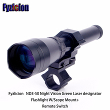 Fyzlicion ND3-50 Night Vision Green Laser designator Flashlight W/Scope Mount+Remote Switch