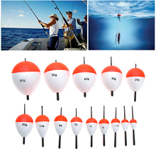 15Pcs/Set Polystyrene Carp Fishing Alarm Floats with Sticks Professional Fish Float Outdoor Sea Fishing Angling Accessory