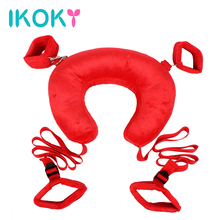 Buy IKOKY Roleplay Neck Pillow Slave Sexy Bondage Sex Toys Couples Easy Open Leg SM Game Bondage Kit Fetish Handcuff Ankle Cuff