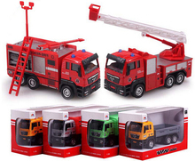 1:55 Alloy Car Truck Scale Models Glide Truck Children's Toy Car Model Kids Toys Cheap Toys Garbage Truck(China)