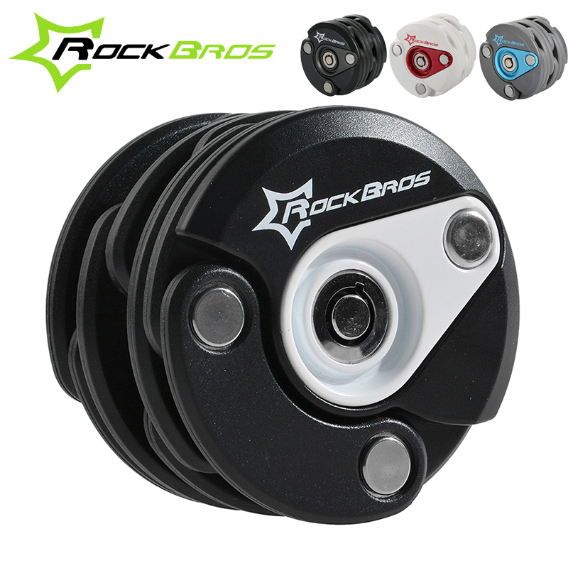 ROCKBROS Zinc Alloy+ABS Bike Anti-theft Mini Chain Cable Lock Bicycle Lock Foldable Security bicicle Cycle Lock Accessories<br>
